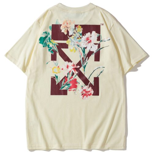 @W Flower 2Color Tee (521)