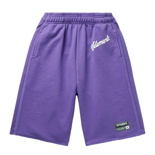 VTM Purple Slogan Printing 1/2 Pants (881)