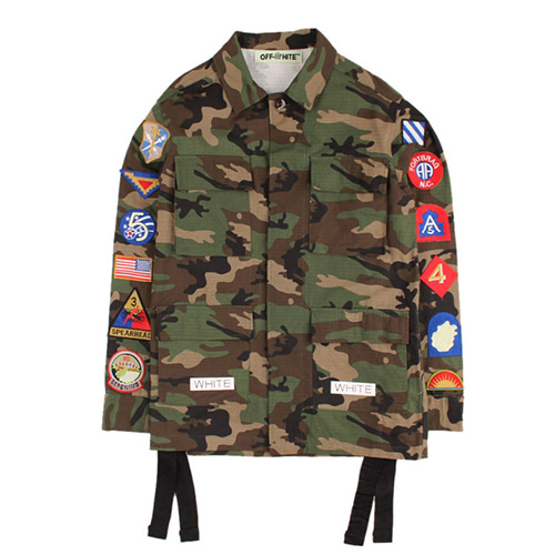 @W Camouflage Patch Paint Jacket (1237)