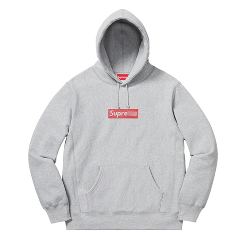 SUP 4Color Box Logo Crystal Rhinestone Hood (1171)