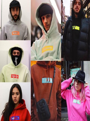 [1:1] Sup 박스로고 17FW Box Logo Hooded BOGO 6Color 후드