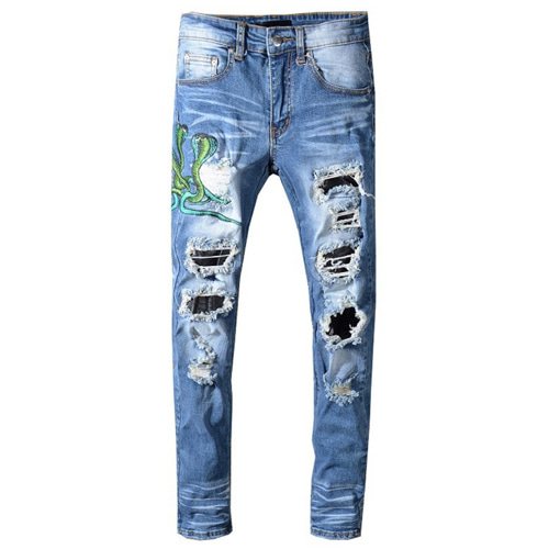 아미리 Snake Denim Pants (447)