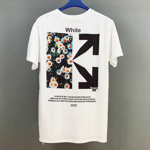 @W 2Color Small Daisies Printing TEE (843)