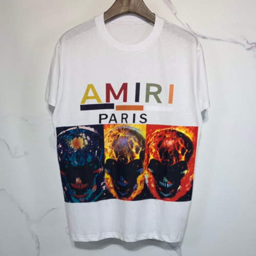 AMIRI 2Color Burning Skull Printing TEE (854)