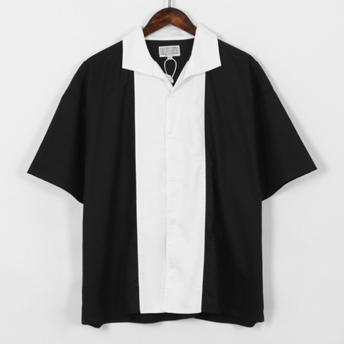C.V.T Black & White Stitching Shirt (830)