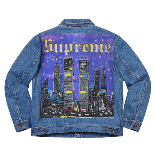 SUP 2Color City Night View Denim Jacket (981)
