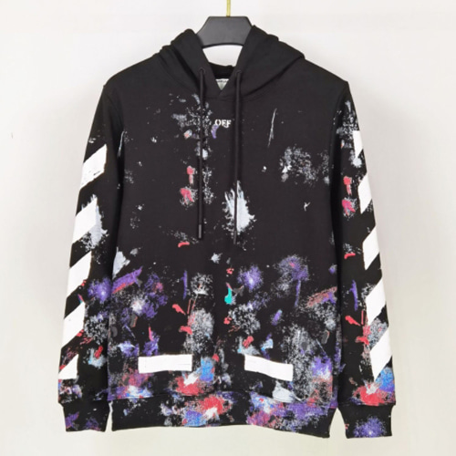 @W 2Color Splash Ink Firework Arrow Hood Zip-up (1222)