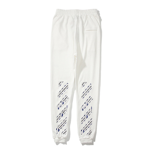 @W 2Color Letter Arrow Pants (1214)