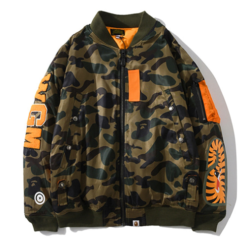 BP Camouflage Shark Baseball Jacket (1259)