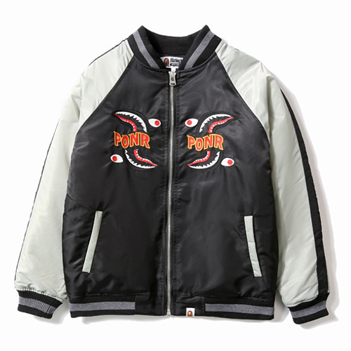 BP 2Color Matching Shark Baseball Jacket (1260)