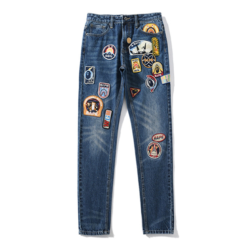 BP 2Color Multiple Embroidered Denim Pants (1256)