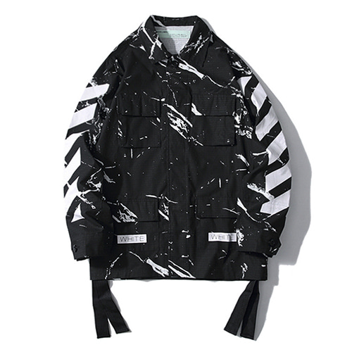 @W Marble Streamer Graffiti Arrow Jacket (1269)