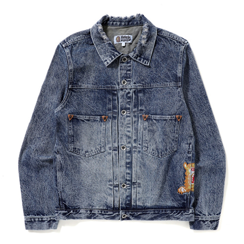BP Tiger Embroidery Washed Denim Jacket (1262)