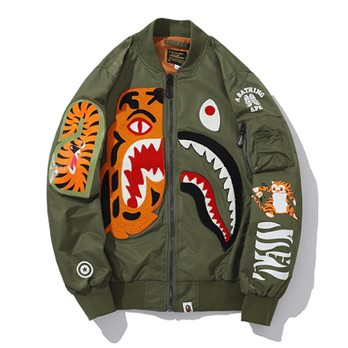 BP 2Color Tiger&Shark Printing Jacket (1255)