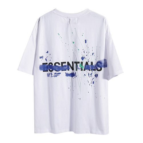 FOG Essentials 2Color Splash Ink Letter Printing TEE (1306)
