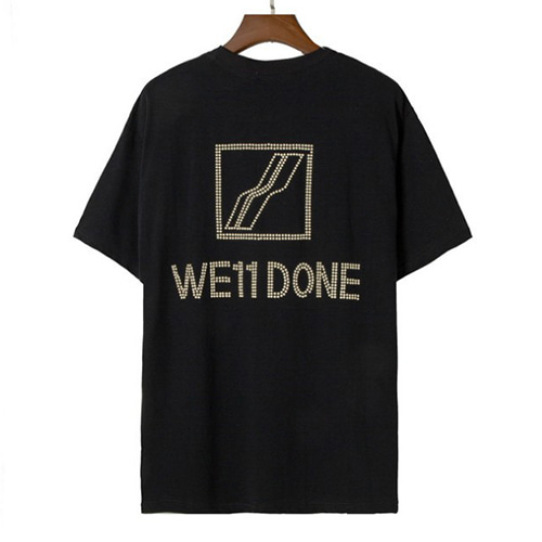 We11 2Color Pearl LOGO Hot Diamond TEE (1310)
