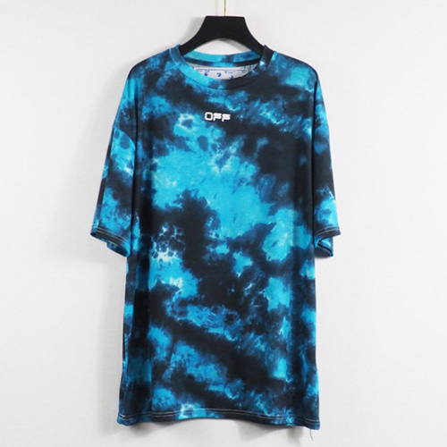 @W 4Colof Splash Ink Colorful Rainbow Rendering  TEE (1327)